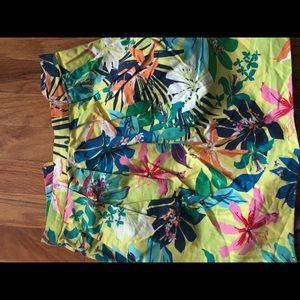 Zara neon floral skirt